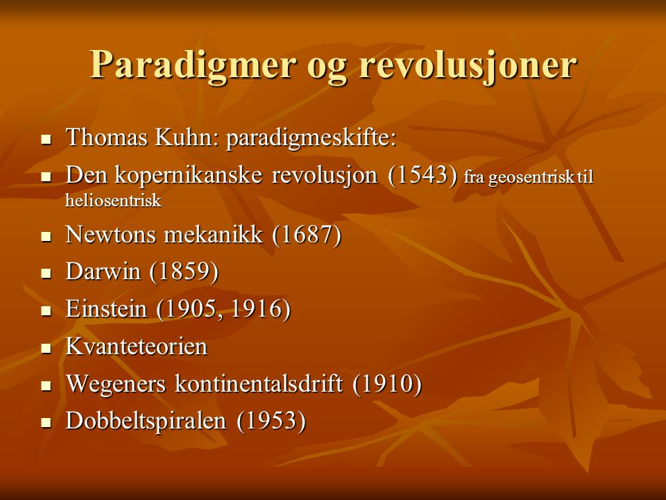Paradigmer og revolusjoner