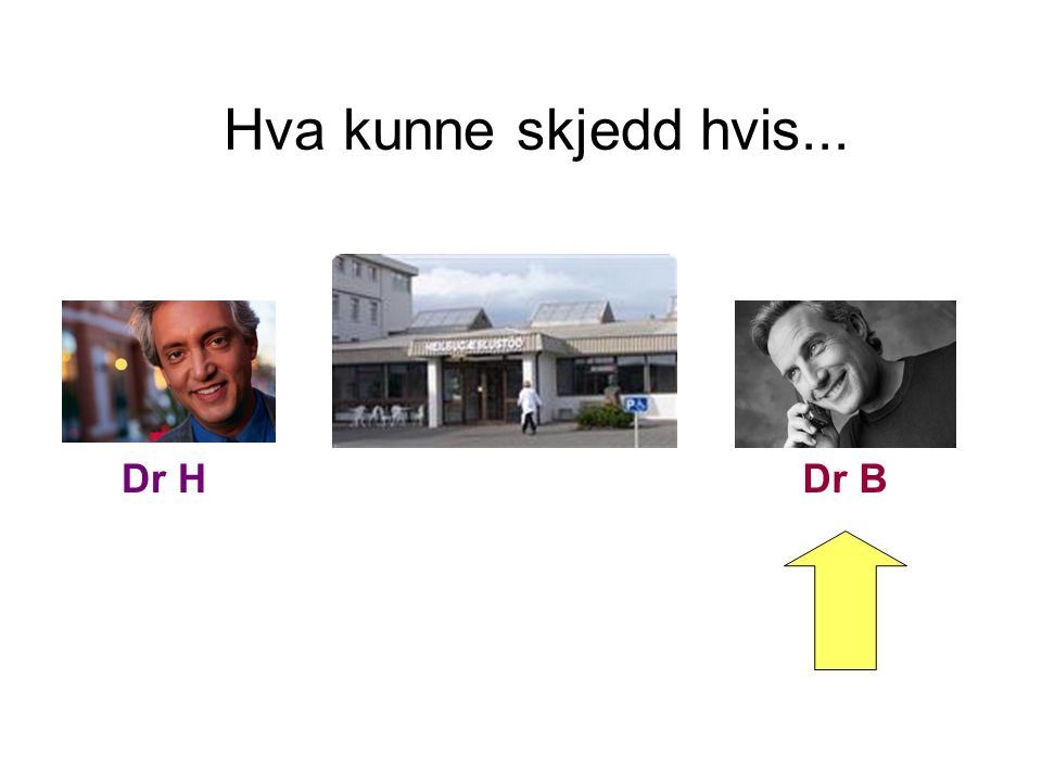 Hva kunne skjedd hvis... Dr H Dr B