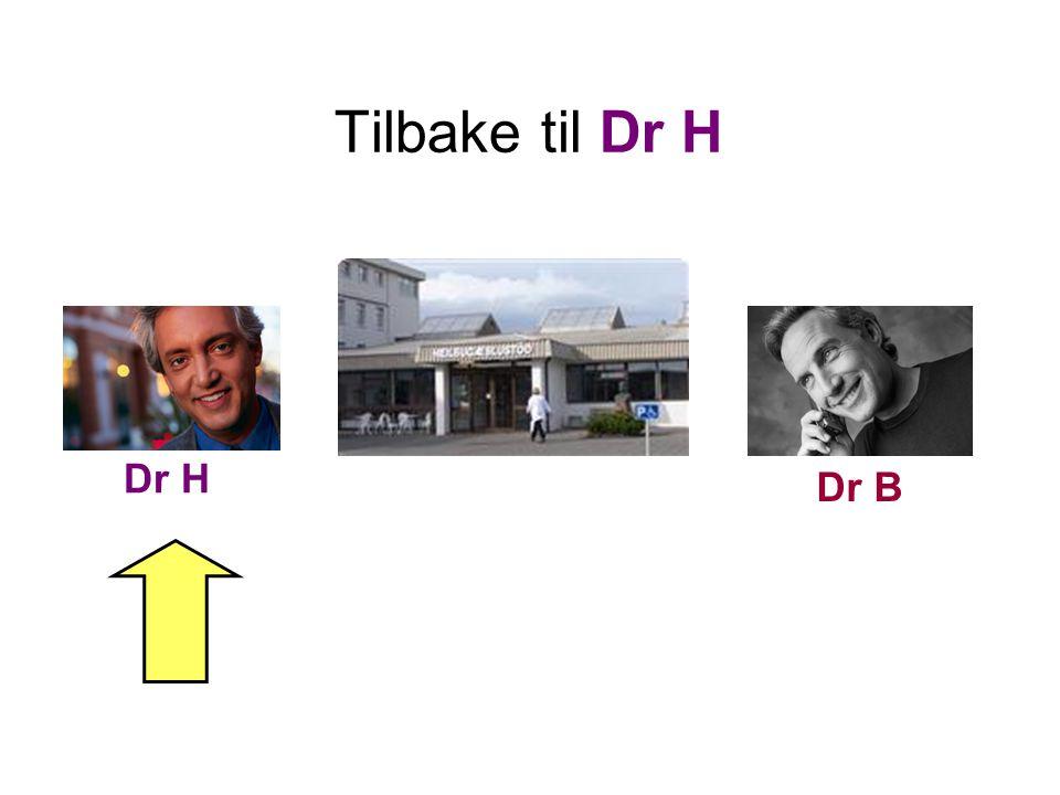 Tilbake til Dr H Dr H. Dr B. Og her ser vi det, legesenteret. En islandsk Heilsugæslustöð (= teksten over inngangen).