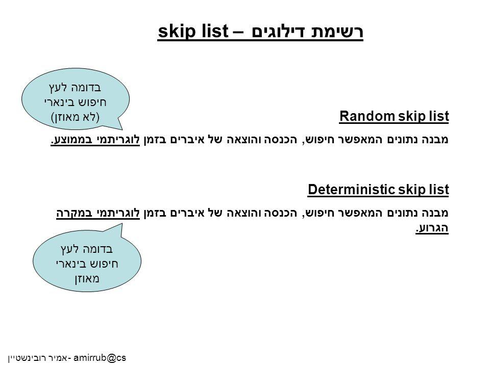 רשימת דילוגים – skip list