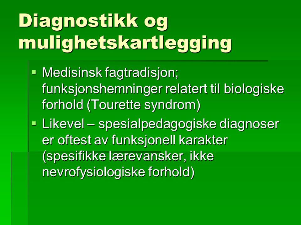 Diagnostikk og mulighetskartlegging