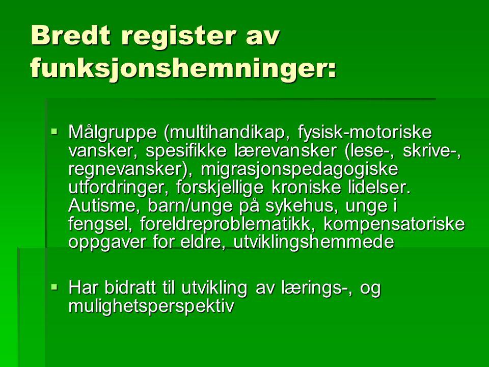 Bredt register av funksjonshemninger: