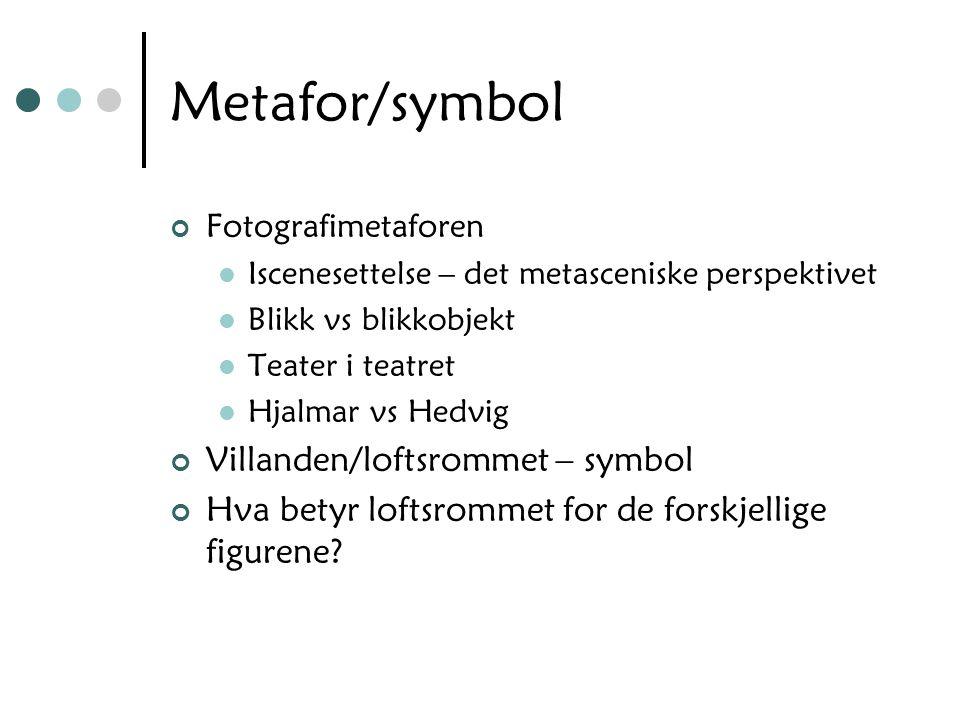 Metafor/symbol Villanden/loftsrommet – symbol