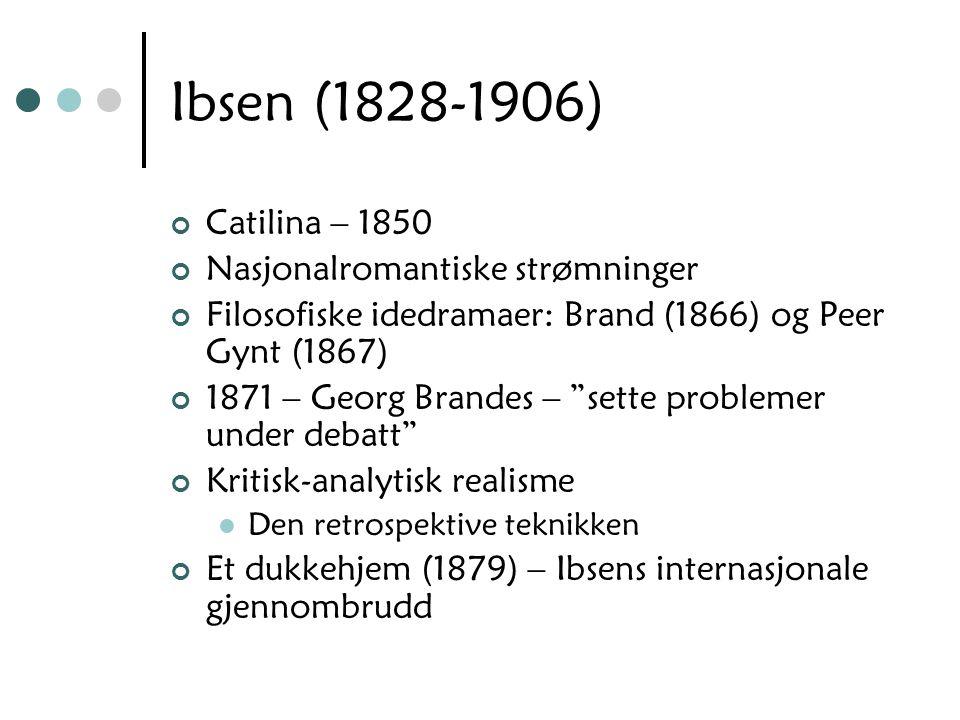 Ibsen (1828-1906) Catilina – 1850 Nasjonalromantiske strømninger
