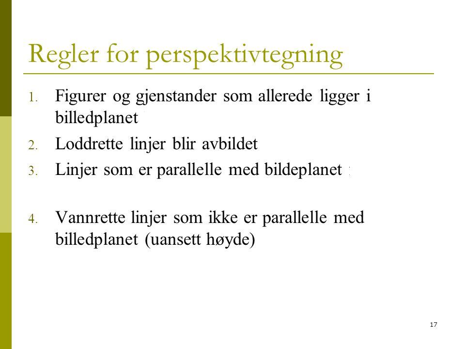 Regler for perspektivtegning