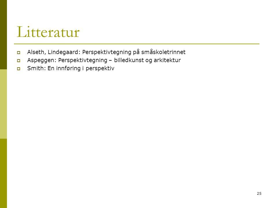 Litteratur Alseth, Lindegaard: Perspektivtegning på småskoletrinnet