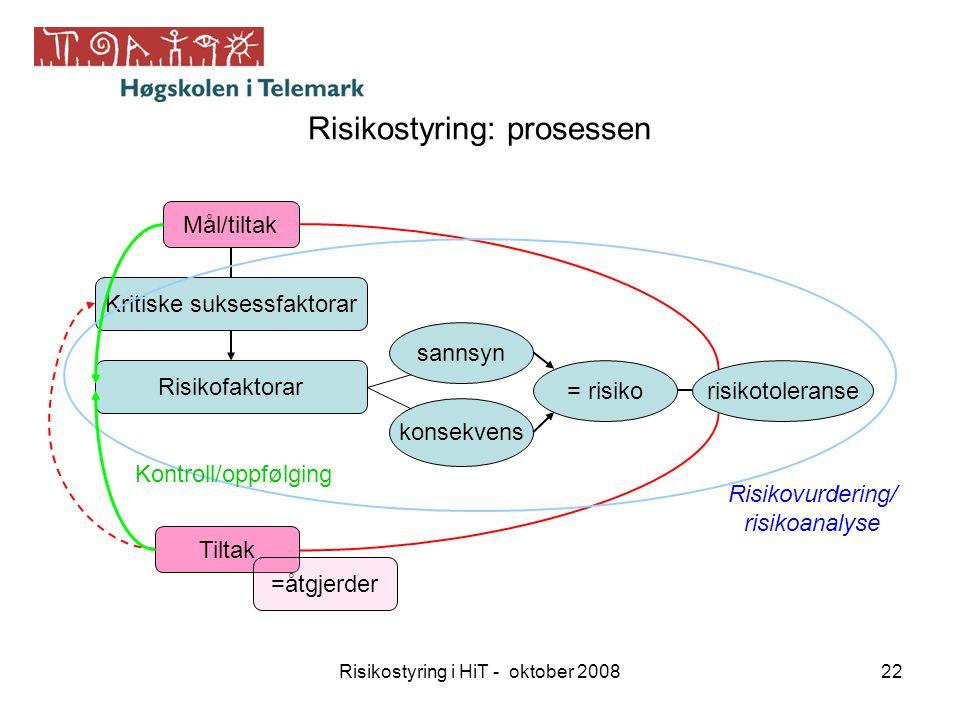 Risikostyring: prosessen