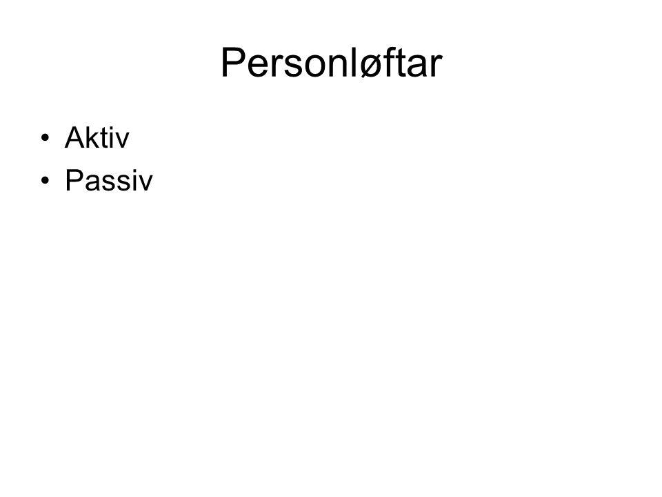 Personløftar Aktiv Passiv