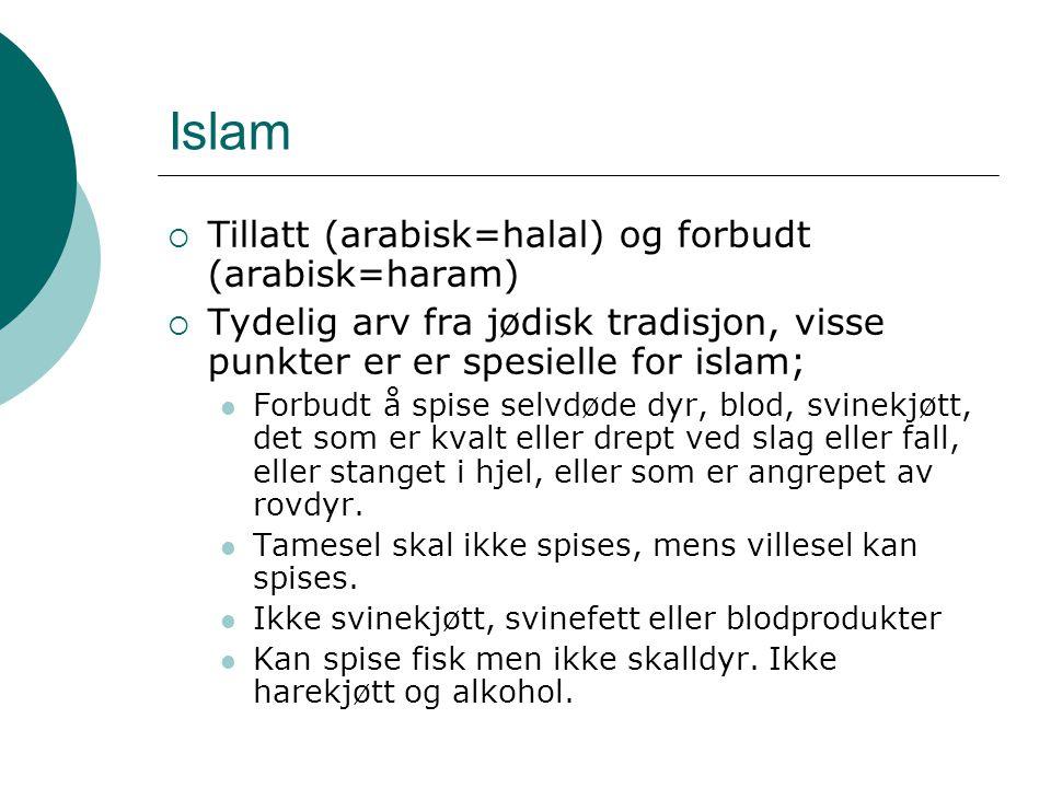 Islam Tillatt (arabisk=halal) og forbudt (arabisk=haram)