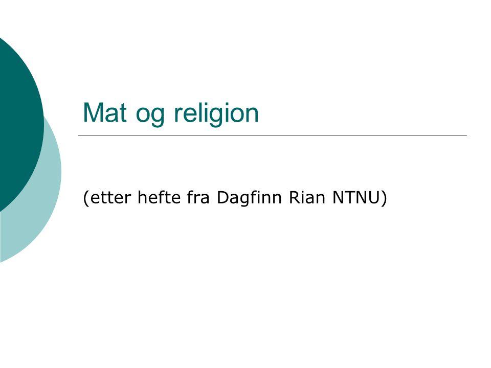 (etter hefte fra Dagfinn Rian NTNU)