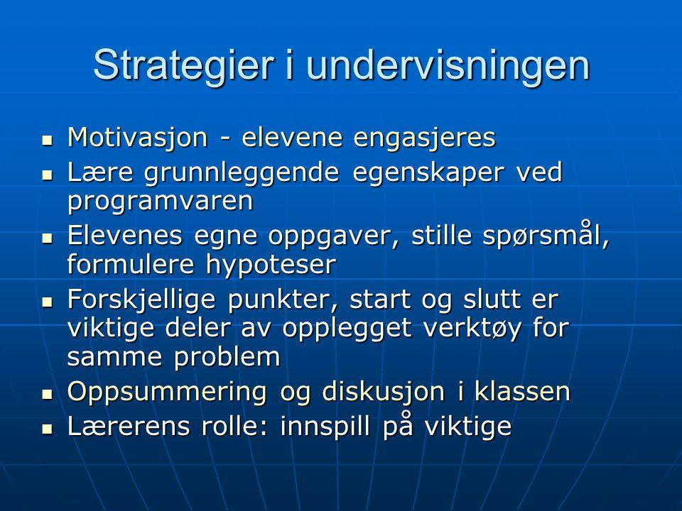 Strategier i undervisningen