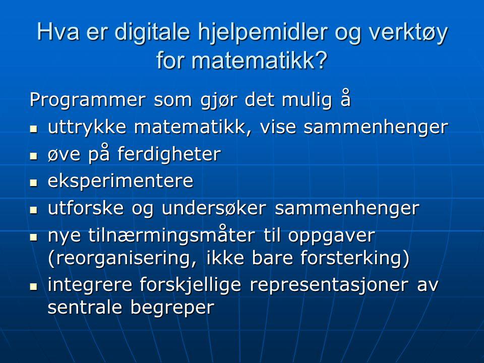 Hva er digitale hjelpemidler og verktøy for matematikk
