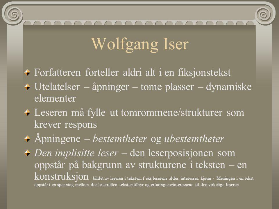 Wolfgang Iser Forfatteren forteller aldri alt i en fiksjonstekst