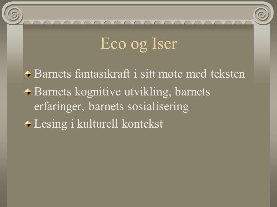 Eco og Iser Barnets fantasikraft i sitt møte med teksten
