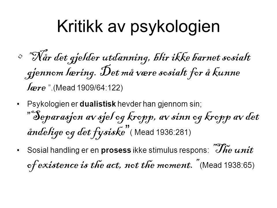 Kritikk av psykologien