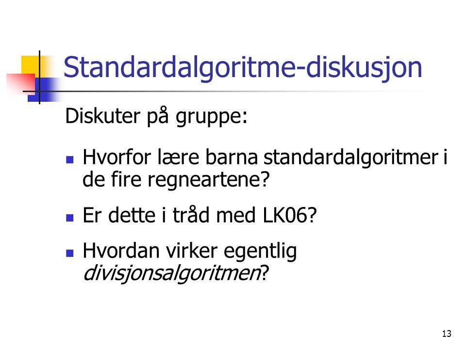 Standardalgoritme-diskusjon
