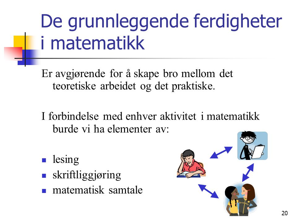 De grunnleggende ferdigheter i matematikk