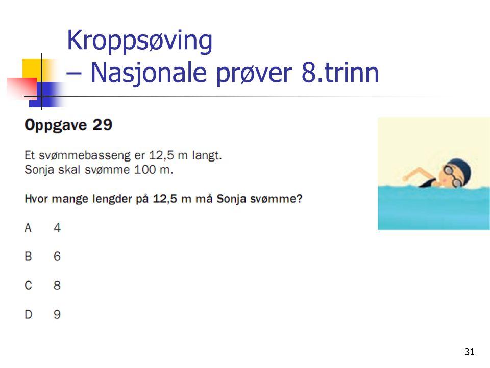 Kroppsøving – Nasjonale prøver 8.trinn