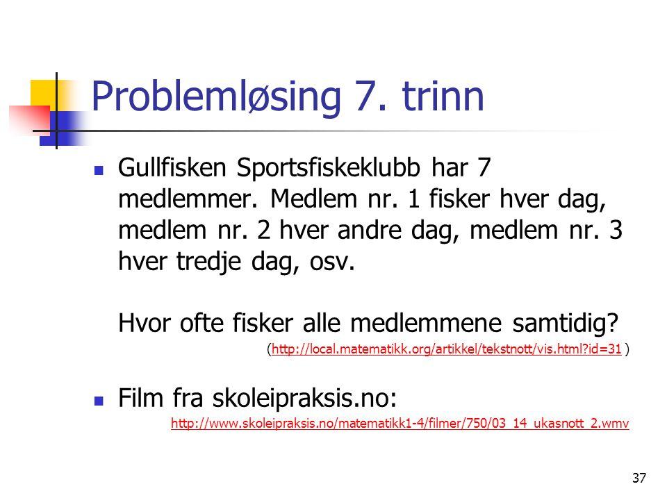 Problemløsing 7. trinn