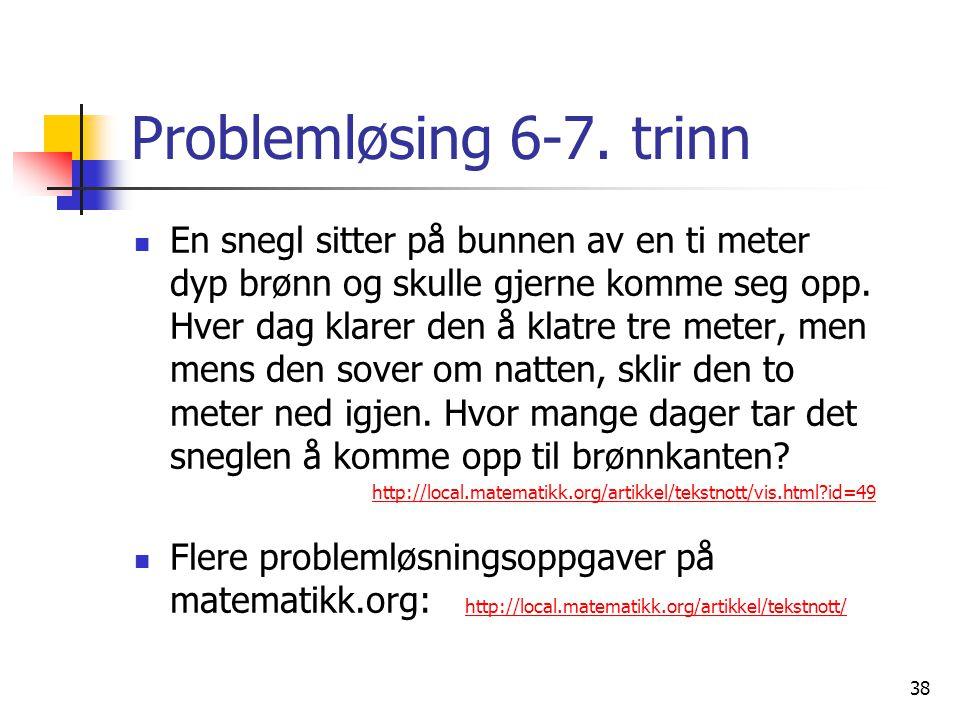 Problemløsing 6-7. trinn