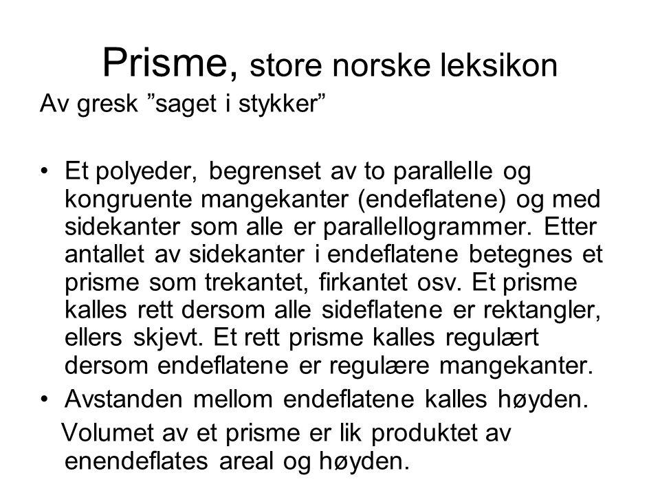 Prisme, store norske leksikon