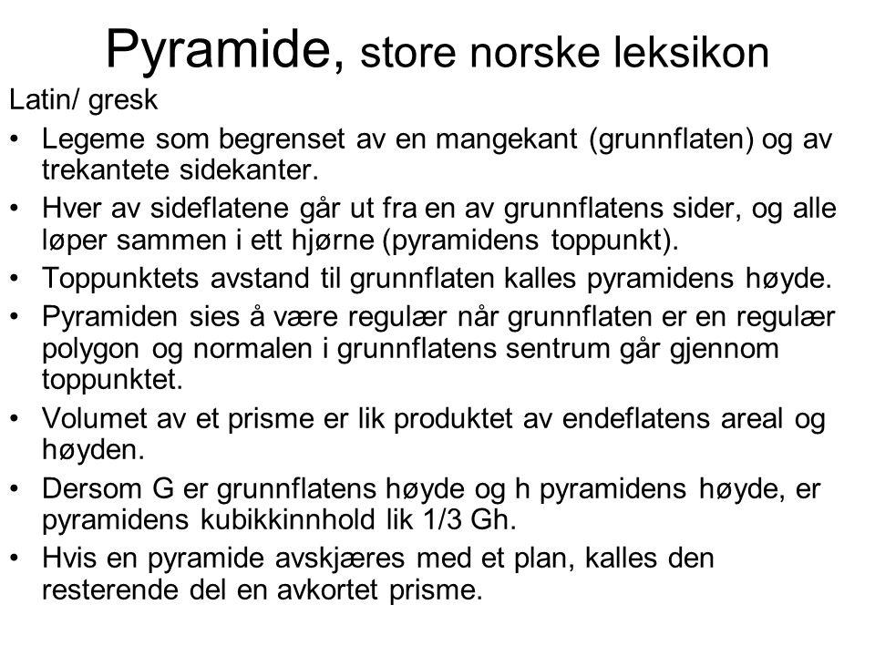 Pyramide, store norske leksikon