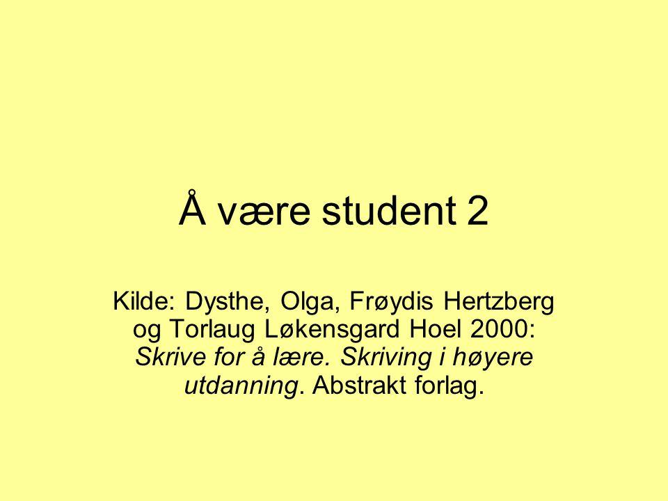 Å være student 2