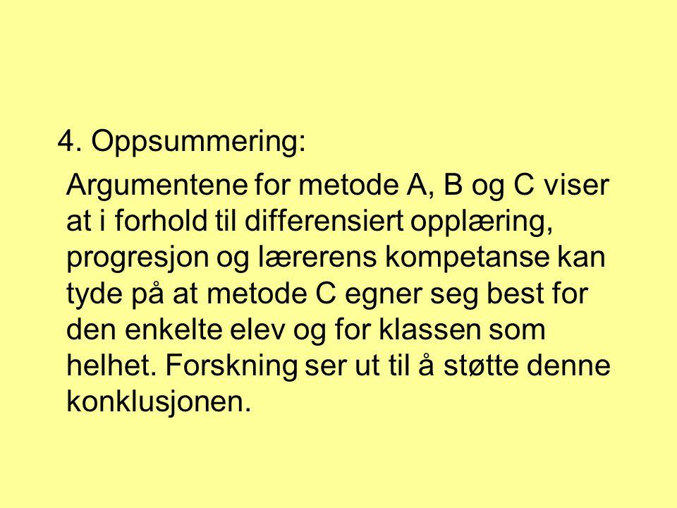 4. Oppsummering: