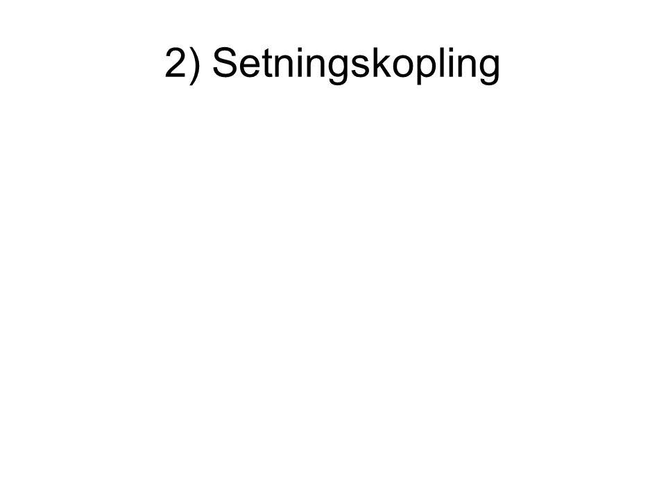 2) Setningskopling