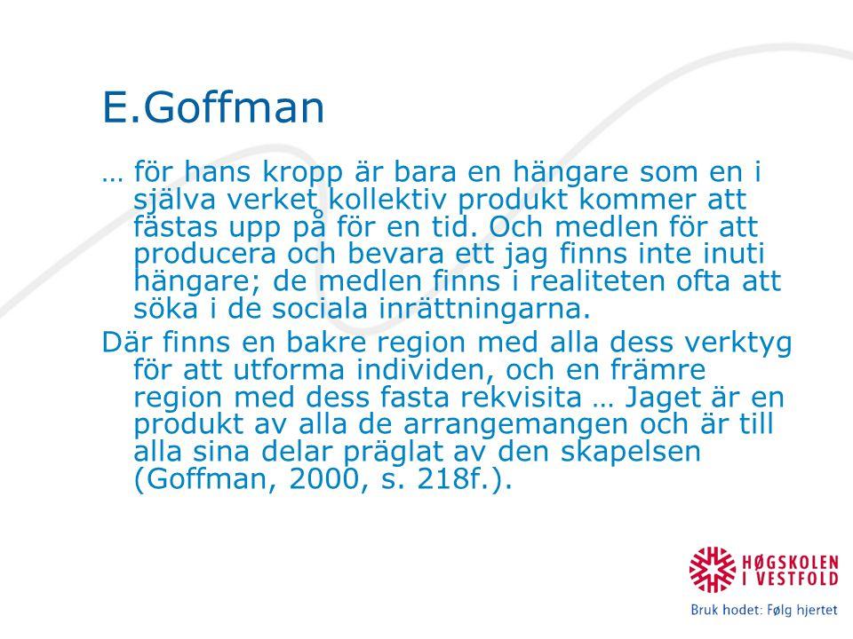 E.Goffman
