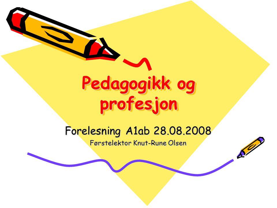 Pedagogikk og profesjon