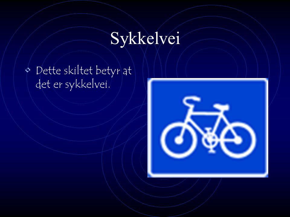 Sykkelvei Dette skiltet betyr at det er sykkelvei.
