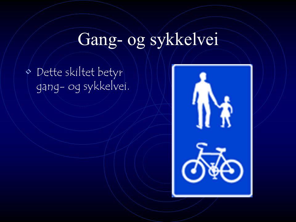 Gang- og sykkelvei Dette skiltet betyr gang- og sykkelvei.