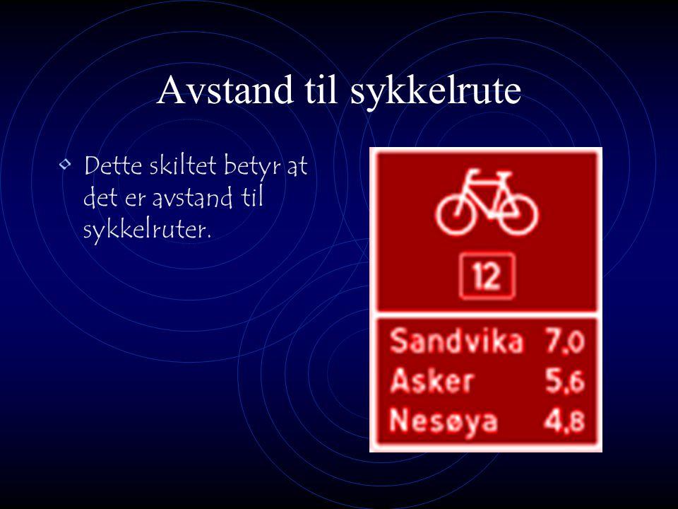 Avstand til sykkelrute