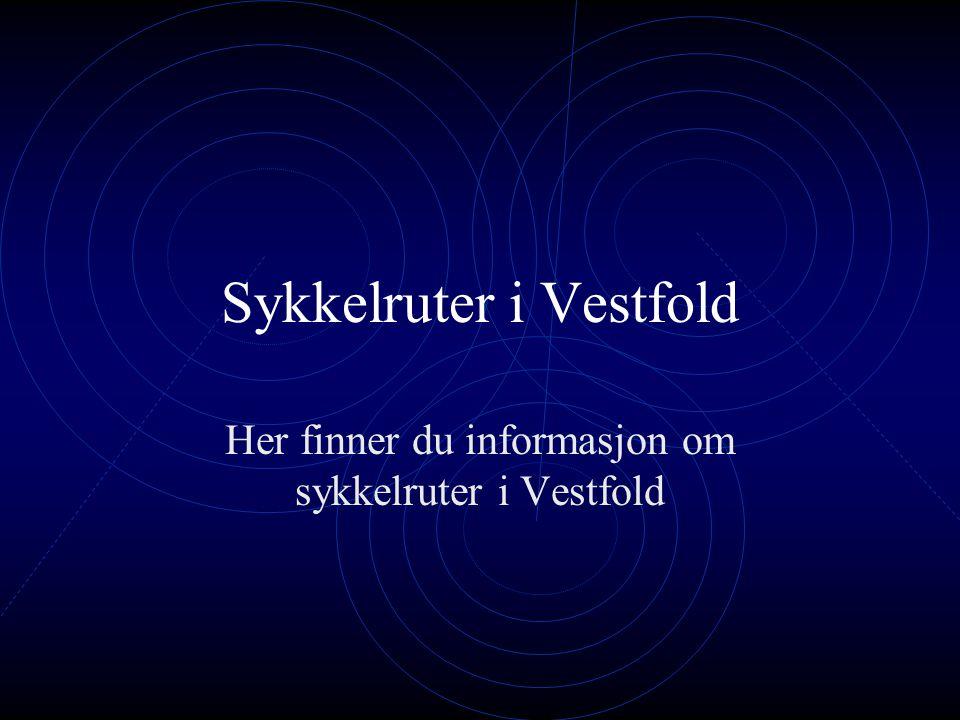 Sykkelruter i Vestfold