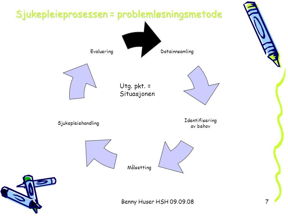 Sjukepleieprosessen = problemløsningsmetode