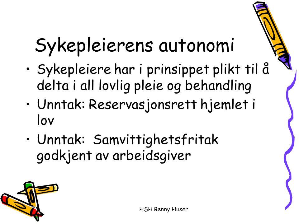 Sykepleierens autonomi