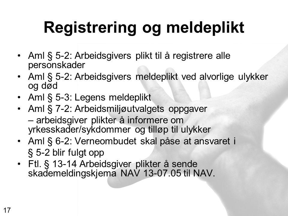 Registrering og meldeplikt