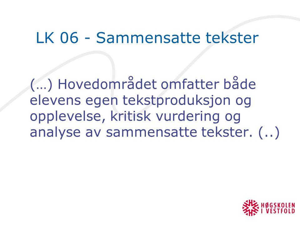 LK 06 - Sammensatte tekster