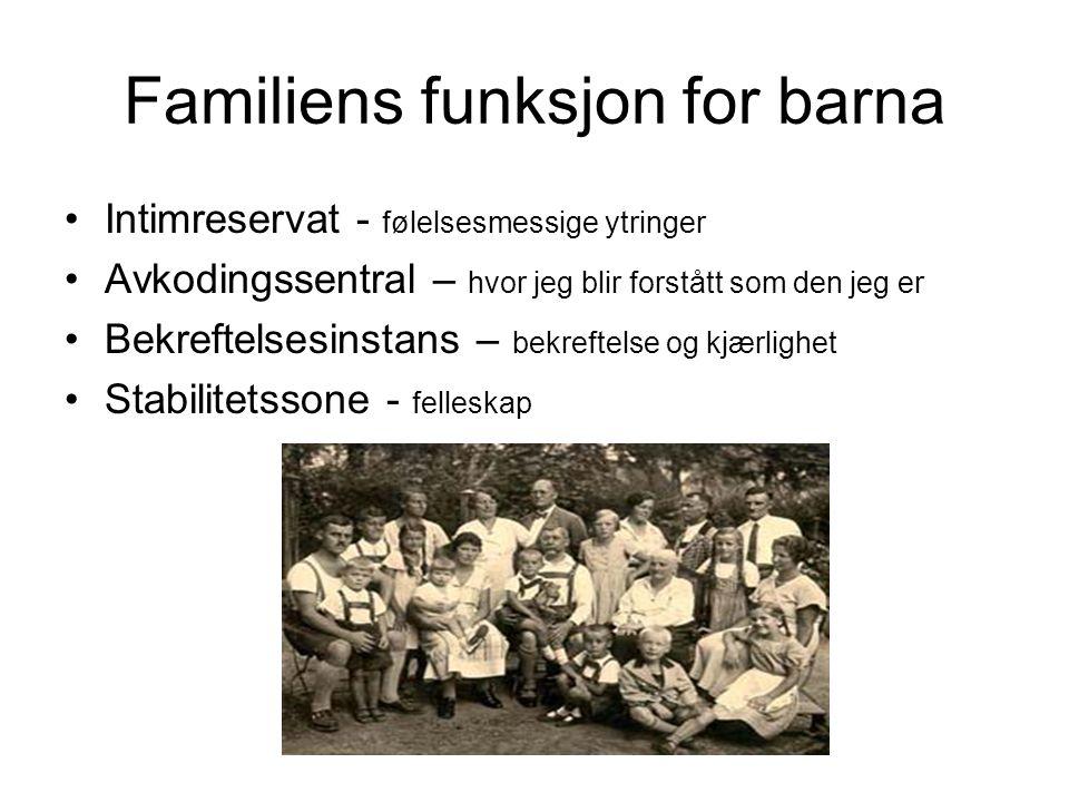 Familiens funksjon for barna