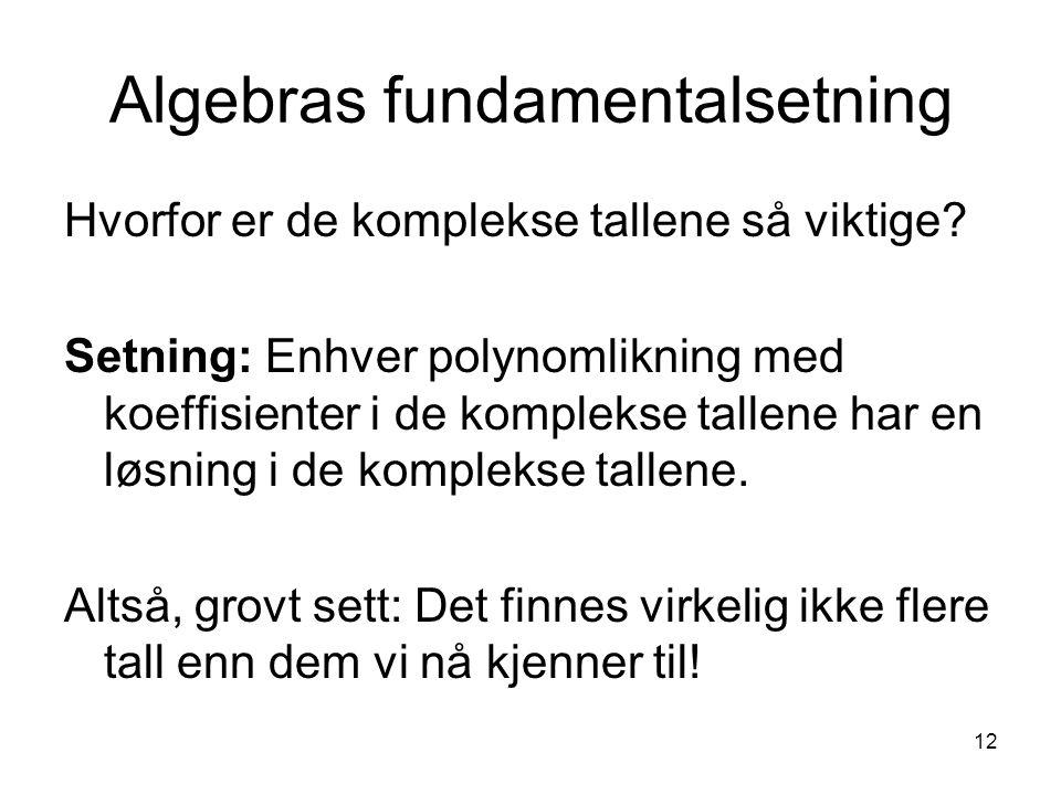 Algebras fundamentalsetning
