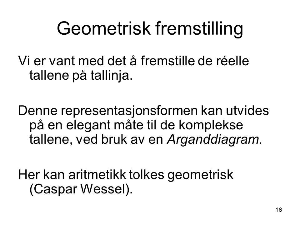 Geometrisk fremstilling