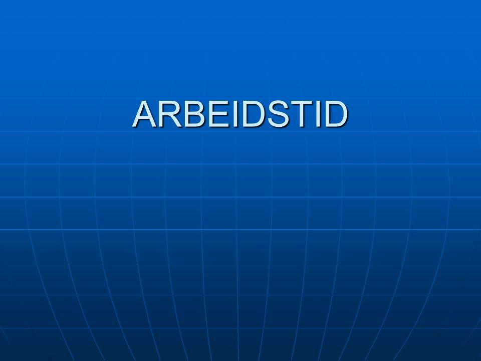 ARBEIDSTID