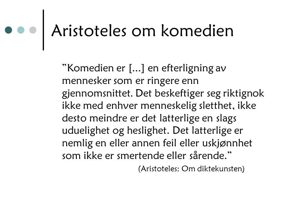 Aristoteles om komedien