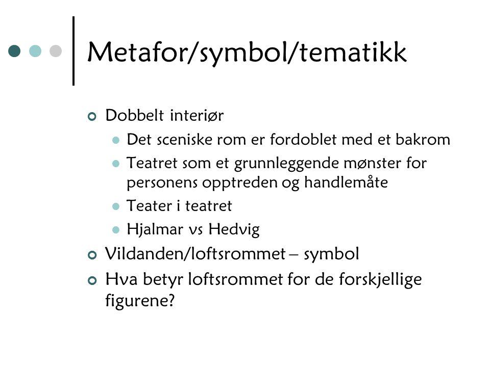 Metafor/symbol/tematikk