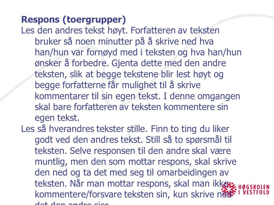 Respons (toergrupper)