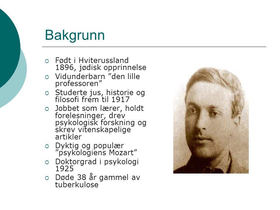 Bakgrunn Født i Hviterussland 1896, jødisk opprinnelse