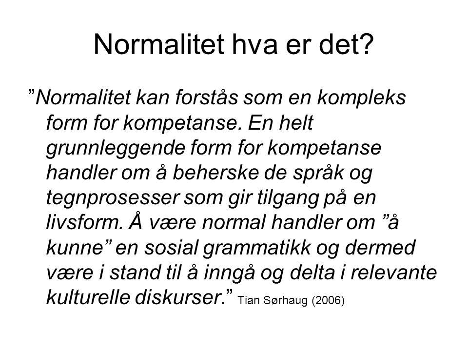 Normalitet hva er det
