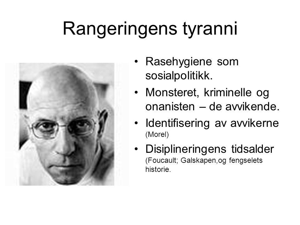 Rangeringens tyranni Rasehygiene som sosialpolitikk.