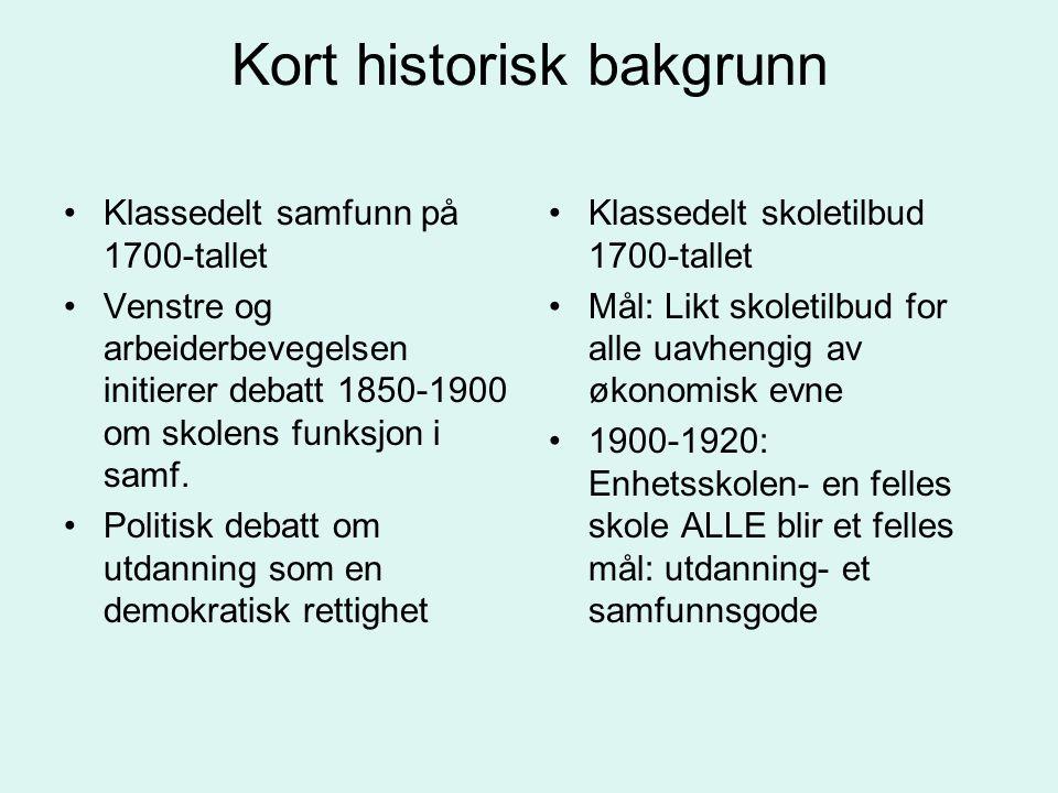 Kort historisk bakgrunn